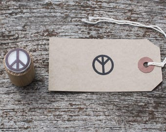 Peace stamp, peace symbol stamp, peace rubber stamp