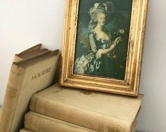 Antique Marie Antoinette framed print shabby chic home wall decor