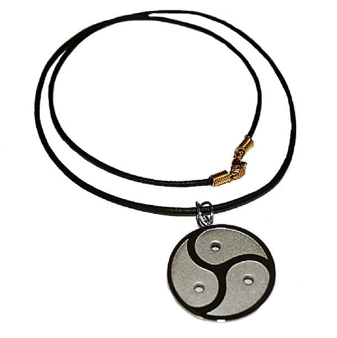 Bdsm symbol pendant peitschenrad triskelion stainless steel zoom biocorpaavc Gallery