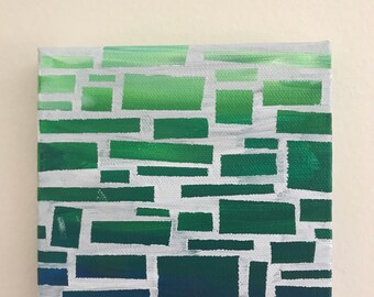 Sea Glass - 5x5 Canvas Painting