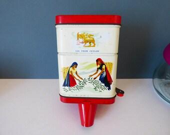 Tea Dispenser Tin From Ceylon