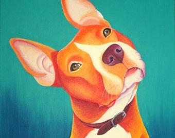 Custom Pet Portrait Custom Cat Painting Custom pet Painting Custom Dog Painting Custom Dog Portrait Pet Memorial Art Pop Art Painting
