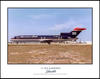 USAirways Shuttle Airlines Boeing 727-225 Photo 11x14 (I213LGSO11X14)