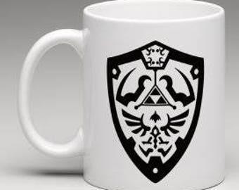 Zelda Ocarina of time shield mug { choose your own color }