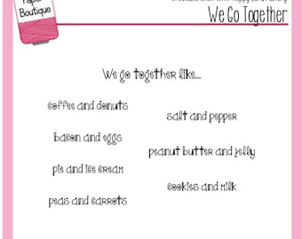 Planner Stamps - We Go Together - Annie's Paper Boutique - for Your Filofax, Erind Condren - Valentine's Day LOVE Donut COFFEE Bacon