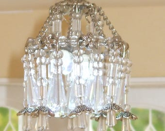 CRYSTAL CHANDELIER & SCONCES in 1:12 scale