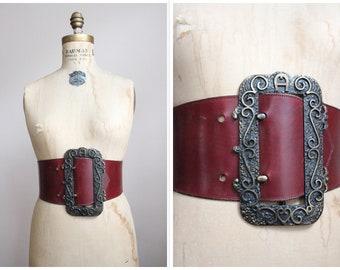 Reserved // 1970s Belt // Oversized Eitenne Aigner Leather Belt // vintage 70s belt