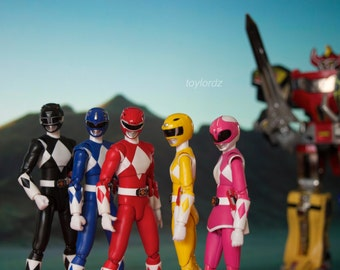 Mighty Morphin' Power Rangers Toy Photography 11x17 Print