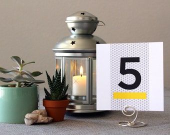 Modern Square Table Marker Unique Wedding Number Party Hipster