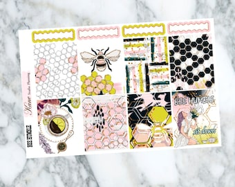 Bee Humble // Weekly Kit - Erin Condren Life Planner Vertical 165+ stickers