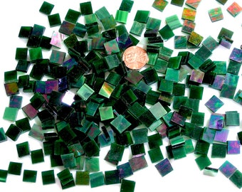 Emerald Green Iridescent Mosaic Tile