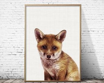 Fox print, Baby fox,Fox printable,Woodland nursery,Fox woodland nursery,Baby fox woodland,Nursery woodland fox,Nursery fox art,Printable art