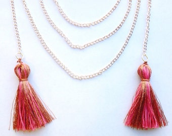 The Magnolia Tassel Lariat