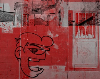 Digital photo creation - Street art mood, design, lifestyle, abandoned building.