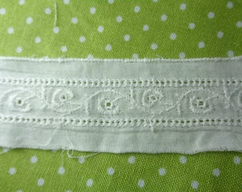 "White Cotton Heirloom Lace. 1 3/8""  Excellent for Doll Clothes and Kid Clothes"