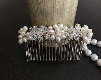 Wedding Headband, Bridal Hair Accessories, Wedding Headpiece, Pearl/bead Comb