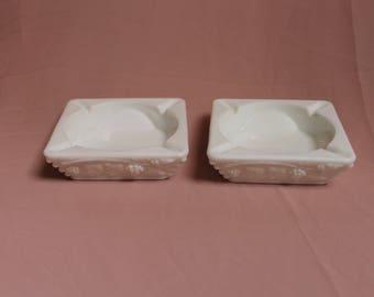 Vintage Milk Glass Westmoreland Ash trays homedecor