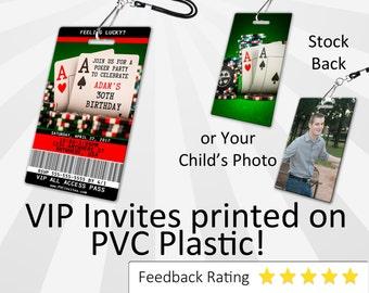 Poker Birthday Invitation PLASTIC Poker Birthday, Poker Birthday Invitation, Birthday Invite, Poker Birthday, Poker