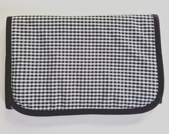 Gingham Travel Changing Pad - Diaper Changing Pad - Baby Shower Gift - Baby Changing Pad