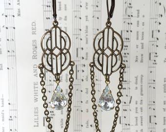 Deco Crystal Earrings