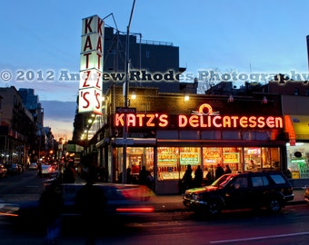 "Katz's Delicatessen NYC -  Fine Art Print (Various Sizes) - Iconic New York City Deli, When Harry Met Sally ""I'll Have What She's Having"""