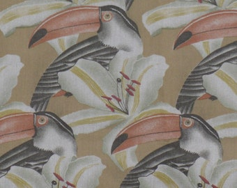 Toucan Tropical Bird Fabric 40 x 34  Marcus Brothers Textiles Remnant