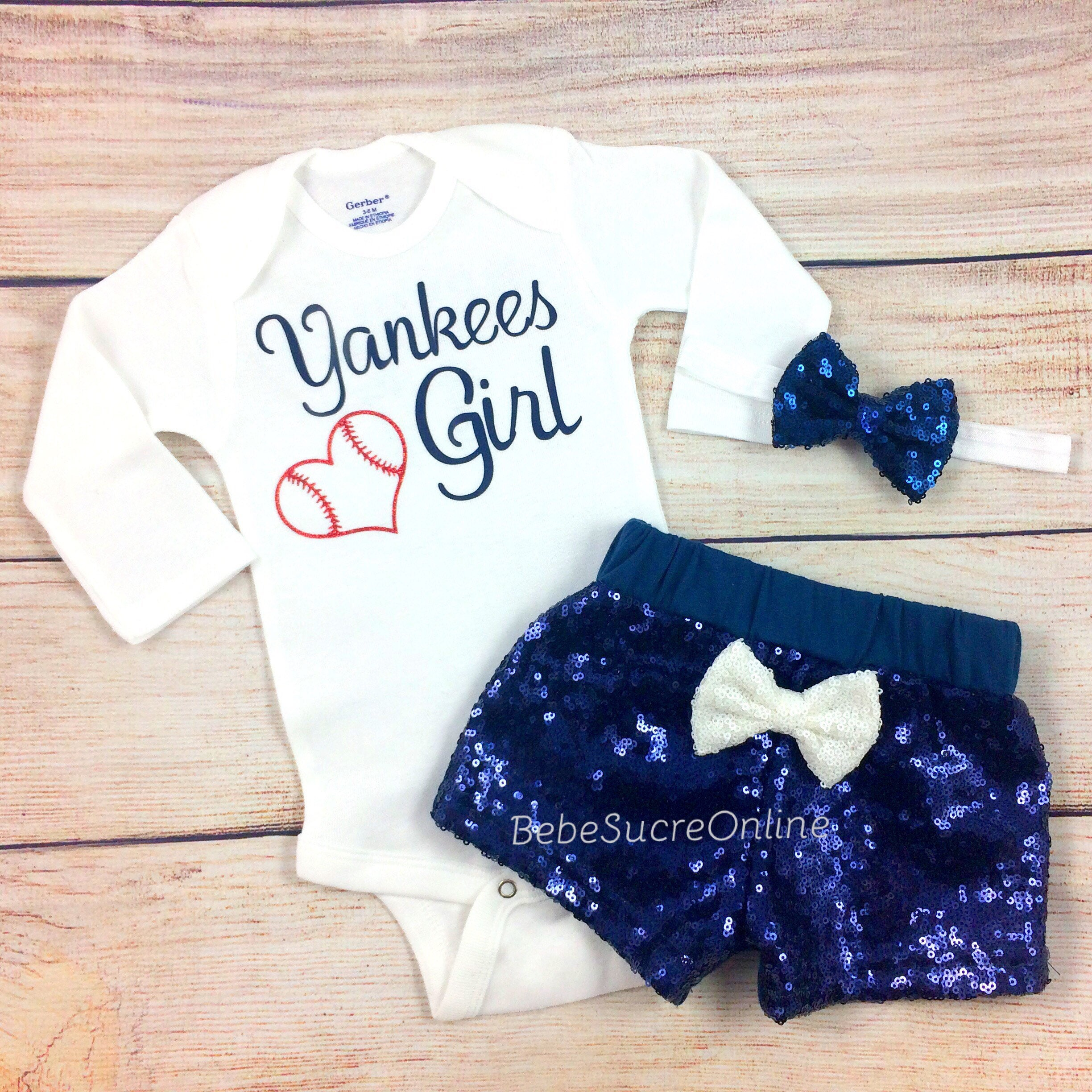 New York Yankees Baby Girl Game Day Outfit Yankees Girl