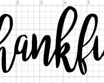 Iron On Heat Transfer Vinyl Thanksgiving Decal - Thankful