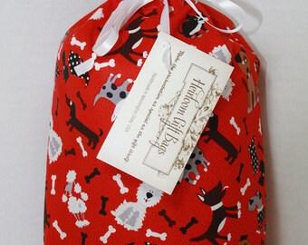 Cloth Gift Bags Fabric Gift Bags Small Gift Sacks Dogs Reusable Eco Friendly Gift Sacks Gift Wrap