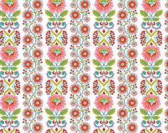 Blend Fabrics - Riding Hood Ribbon Bloom - White