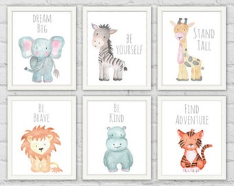 Safari Animal Prints, Safari Animals, Baby Shower Gifts, Safari Animals Printable, Nursery Wall Art, Baby Animals Nursery, Safari Prints