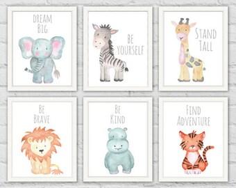 Safari Animal Prints, Safari Animals, Baby Shower Gifts, Safari Animals Printable, Nursery Wall Art, Baby Animals Nursery, Safari Prints