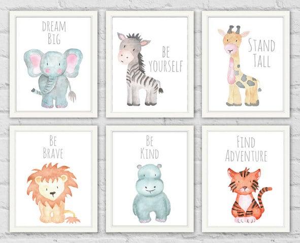 Safari Animal Prints Safari Animals Baby Shower Gifts