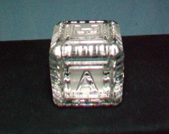 Waterford Crystal A B C Cube