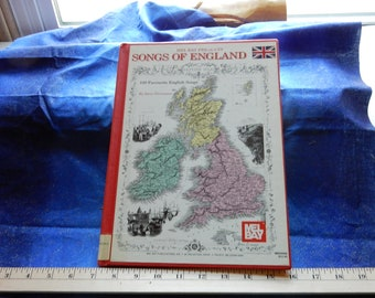 Vintage Music Book Sheet Music Songs of England