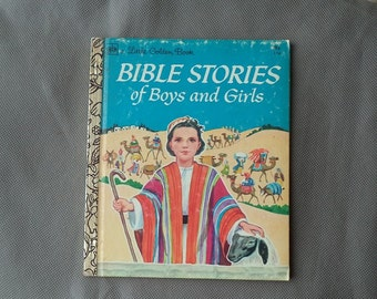 Little Golden  Book ,Children's story book  ,BiBle Stories of boys and girls,  1974 vintage book, children books