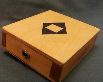 Stomp Box  Foot Drum  Stomper  Cigar Box Guitar  Cajon Drum  Handmade  New