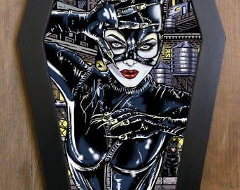 Catwoman Batman Returns in coffin framed print