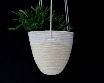 Hanging Planter in Gorse Yellow