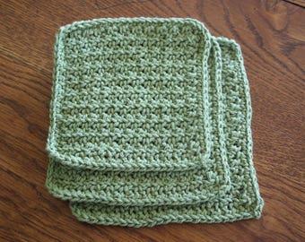 Green Cotton Dishcloths
