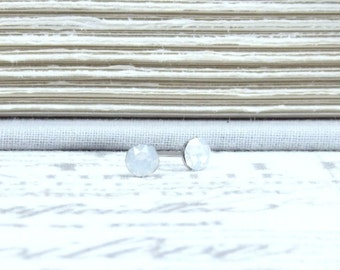 White Opal Studs Small Crystal Studs 4mm Studs White Stud Earrings Surgical Steel Studs Tiny Stud Earrings