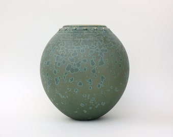 Matte Crystalline Bottle Vase