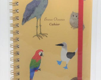 Bird Shoebill Owl Macaw, etc.  Notebook with Rubber Band (NB-6230) Price depends on order volume.
