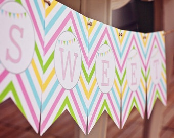 DIY Printable Banner - Sweet Shoppe Party