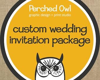 Custom Wedding Invitation Package Design - Digital File