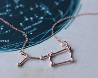 Ursa Major Constellation Necklace - Big Dipper Pendant - Rose Gold - Celestial jewellery