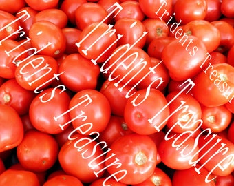 Tomatoes Wall Art - Warholesque Wall Art - Digital Food Art - Photography - Kitchen Art - Restaurant Kitsch