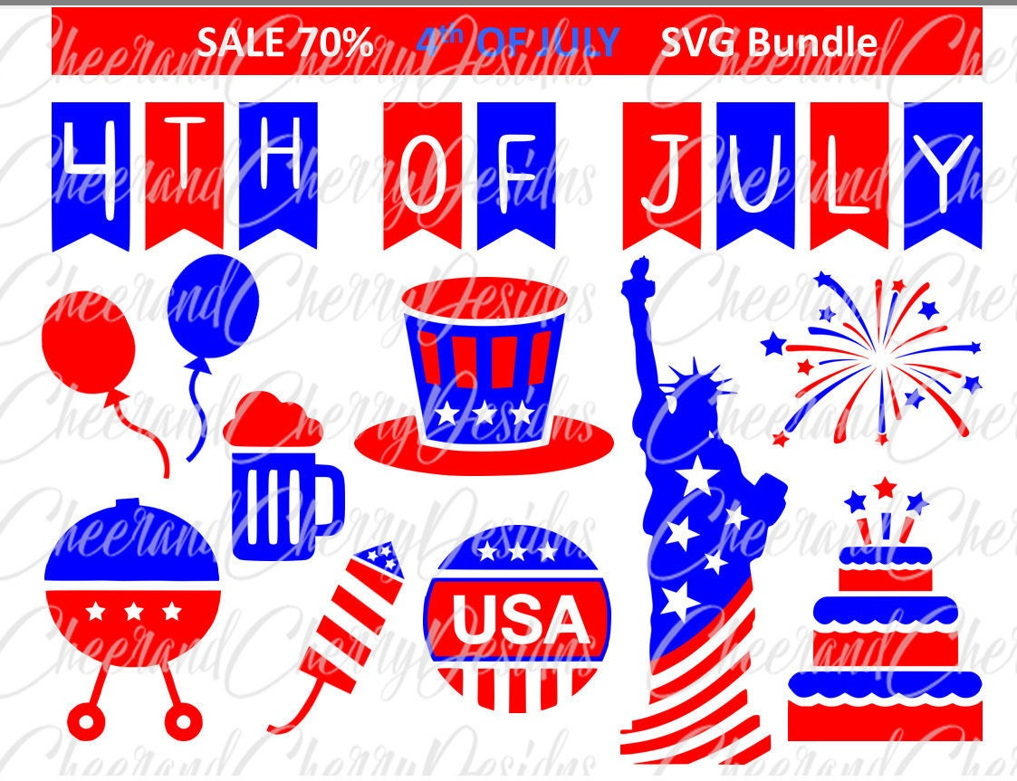 july 4th SVG 4th of july clipart america SVG summer Clip Art