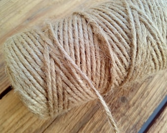 2mm 65m 100gr 100% Natural Jute twisted twine rope  cord spool