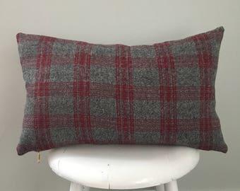 Plaid flannel lumbar pillow